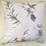 Lilac Hummingbird and Butterfly Cushion Cover 16""